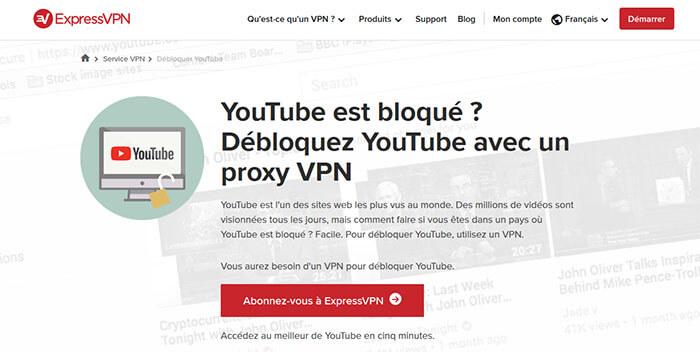 Accéder YouTube avec ExpressVPN