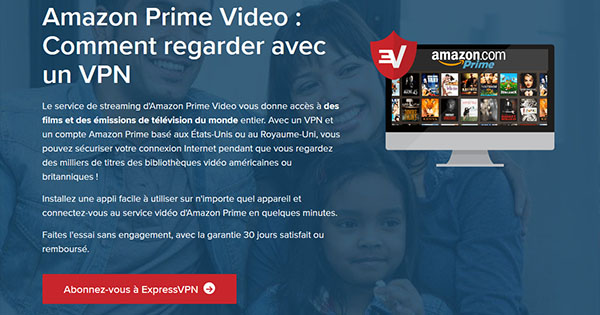 Amazon Prime ExpressVPN