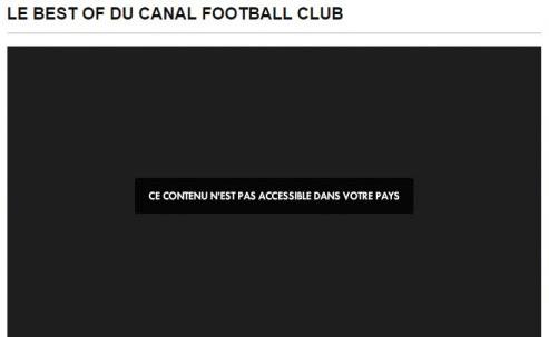 Blocage Canal+ à l'étranger