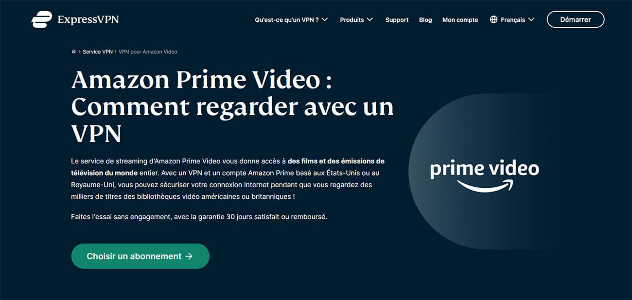 Débloquer Amazon Prime Video ExpressVPN