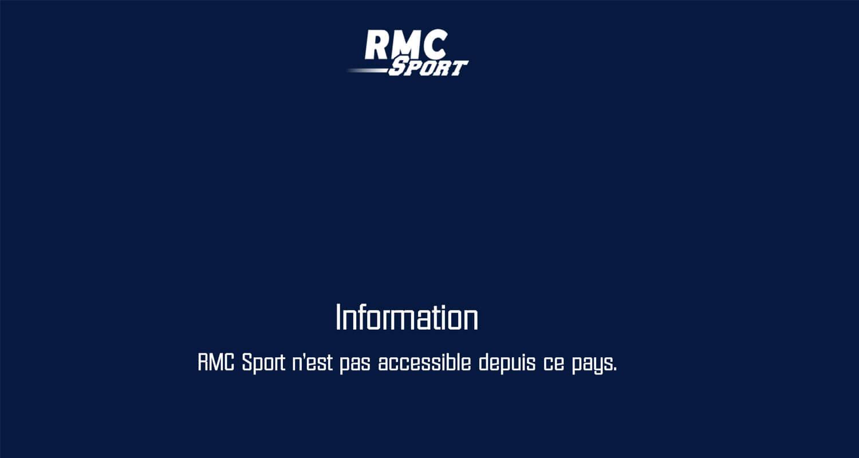 RMC Sport non disponible