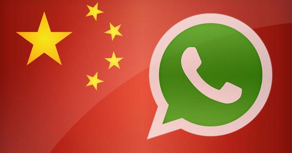 Whatsapp en chine