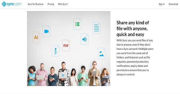 Fournisseurs de stockage en ligne - Sync