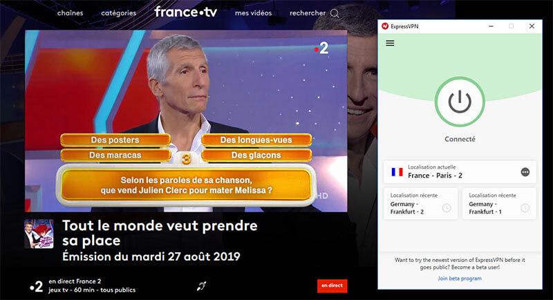 France 2 à l'étranger avec VPN