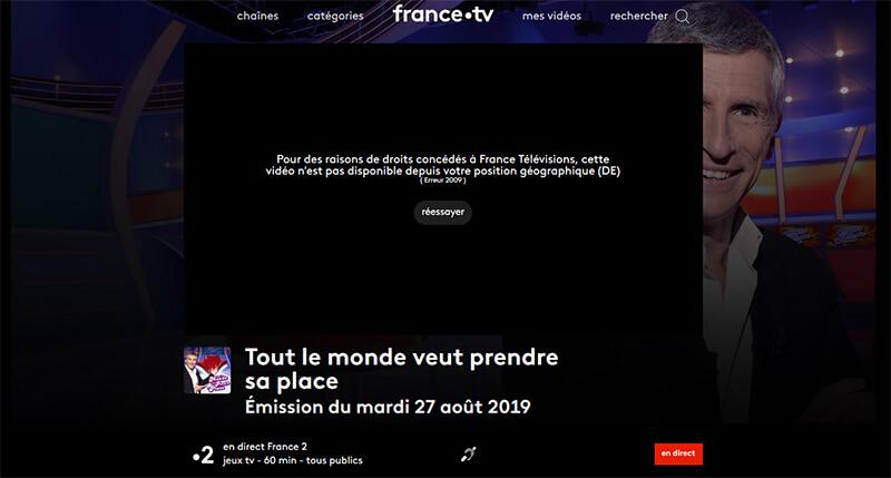 France 2 à l'étranger sans VPN