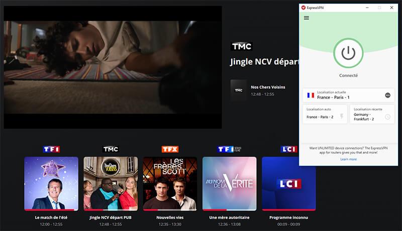 TMC à l'étranger avec VPN
