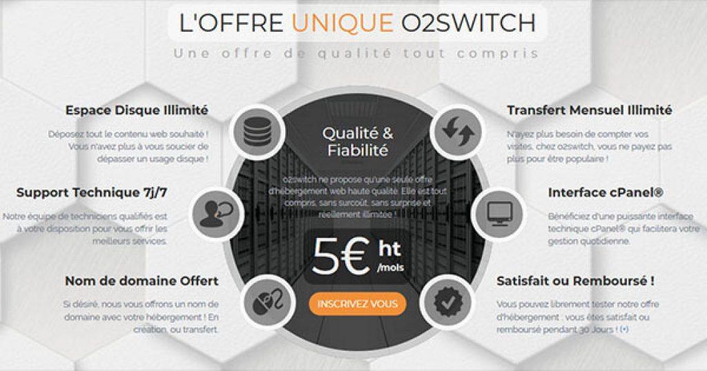 Tarification-o2switch