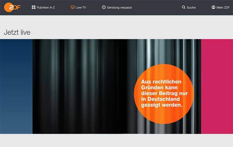 ZDF sans VPN