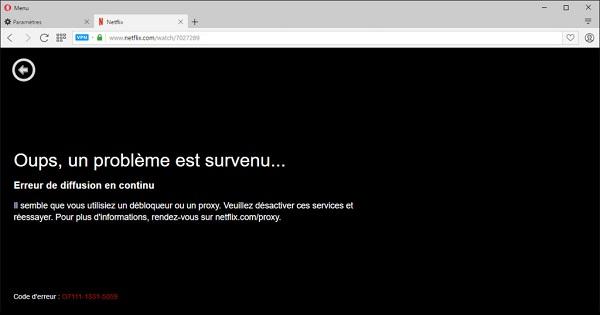 Avis Opera VPN Netflix