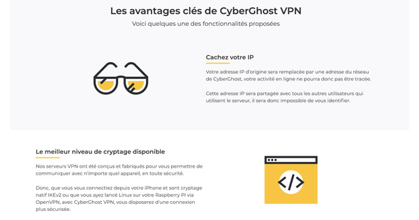 Avantages CyberGhost