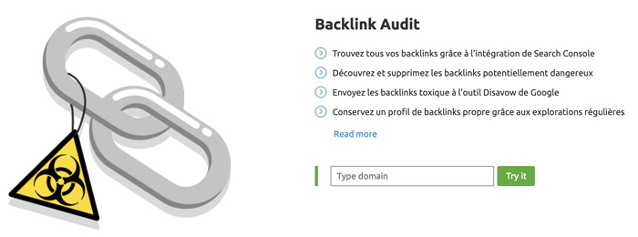 Audit backlinks Semrush