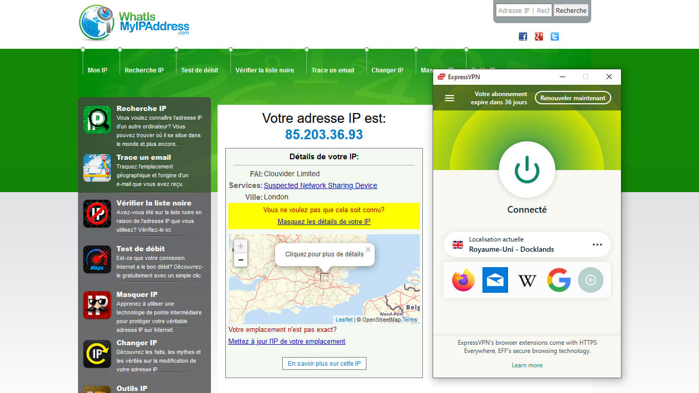 Obtention IP britannique ExpressVPN