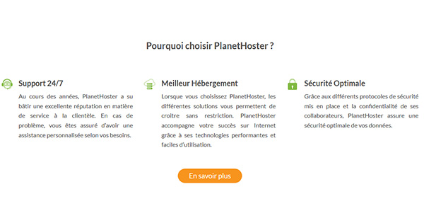 Pourquoi choisir PlanetHoster