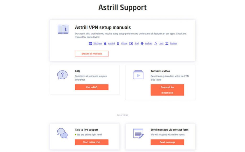 Support Astrill