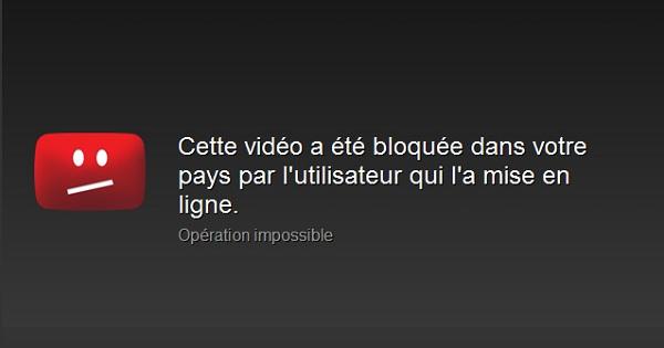 YouTube bloquée