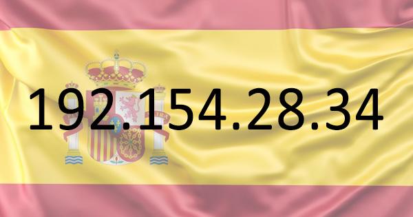 Adresse IP espagnole