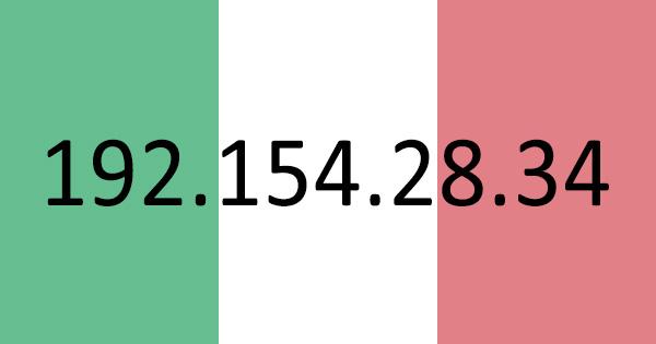 Adresse IP italienne