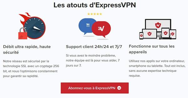 Avantages-ExpressVPN