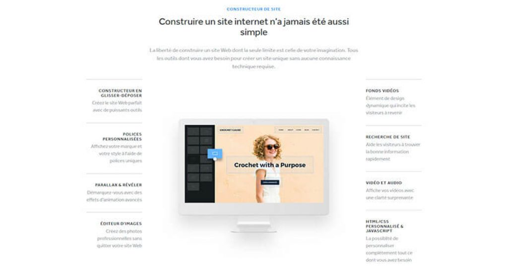 Fonctionnalités Weebly