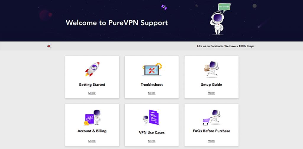 Support PureVPN