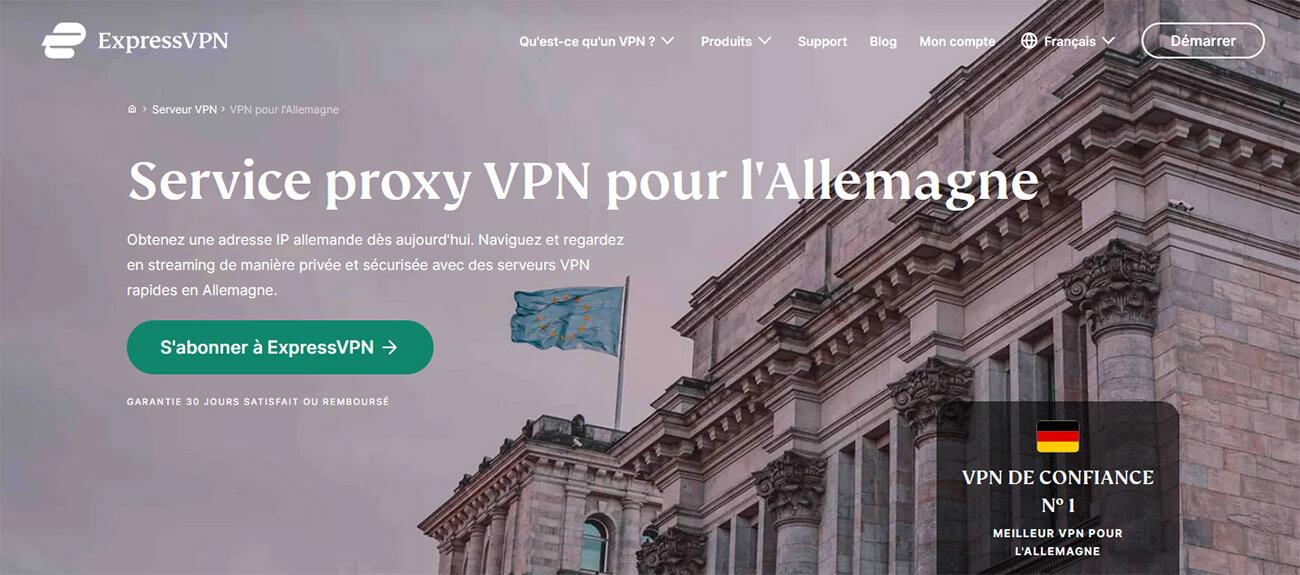 VPN Allemagne ExpressVPN