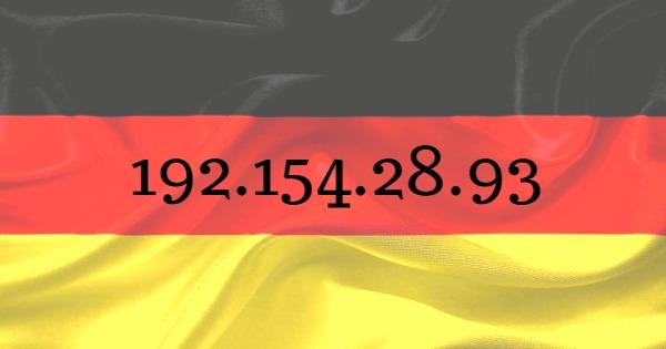adresse ip allemande