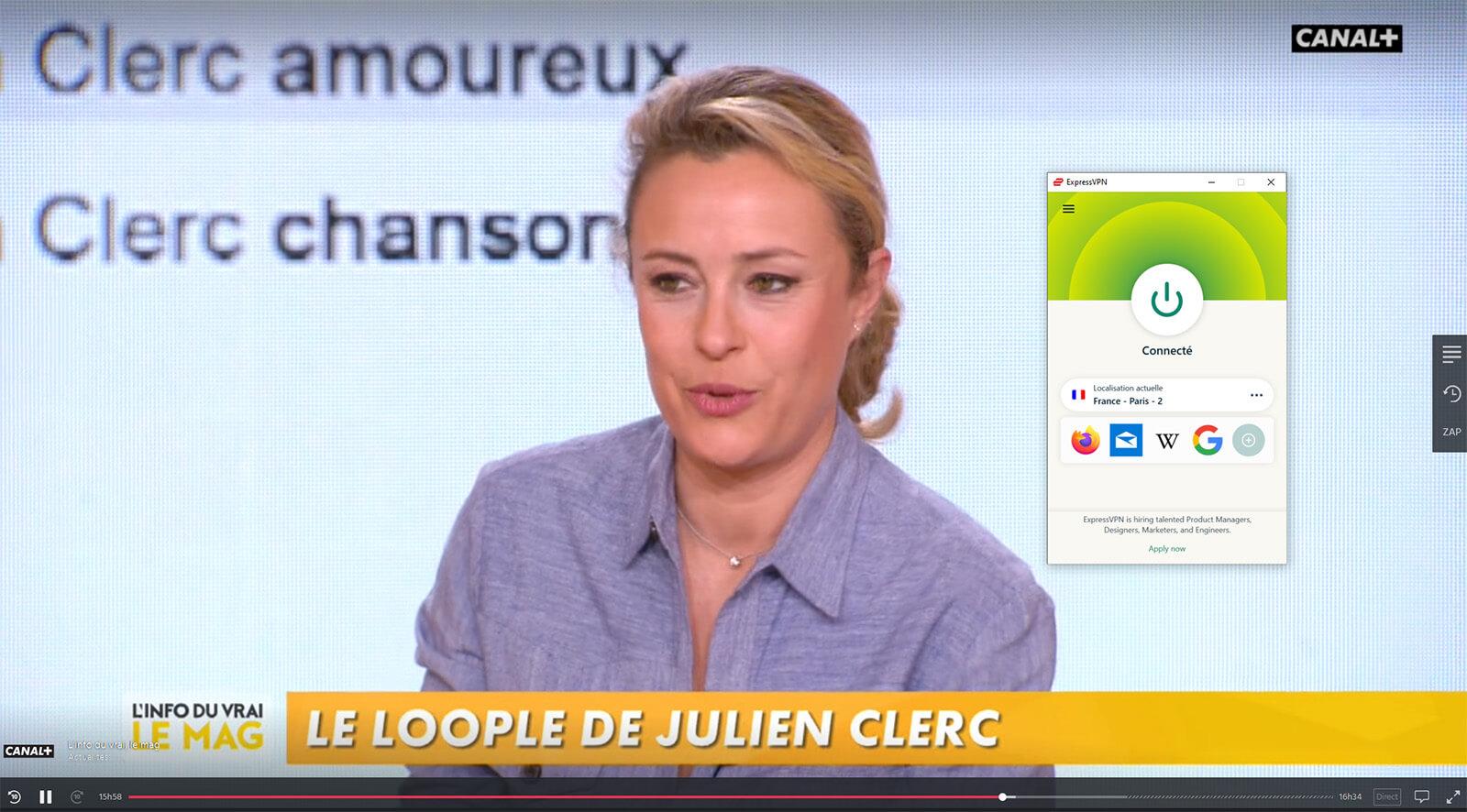 Accès MyCanal Canal+ étranger
