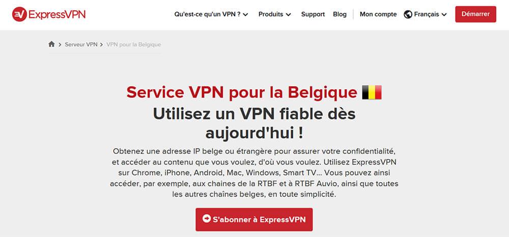 ExpressVPN Belgique