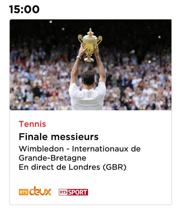 Finale Wimbledon streaming