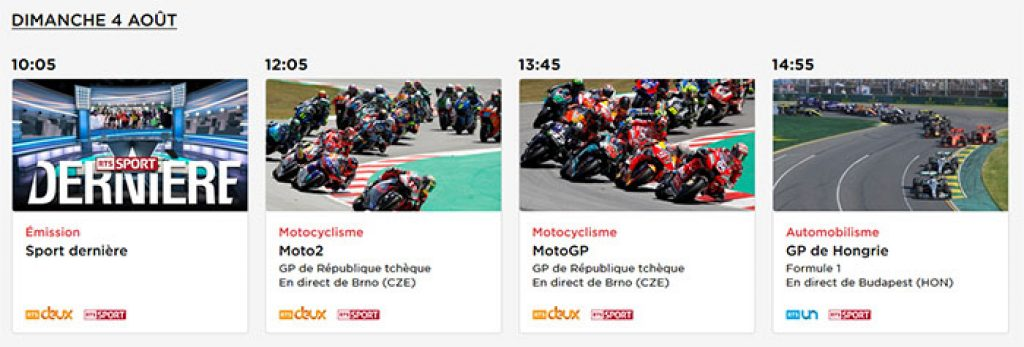 Programme RTS GP Hongrie