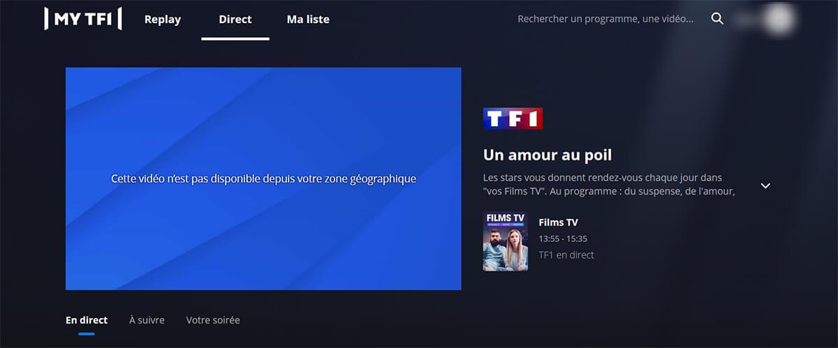Blocage TF1 étranger