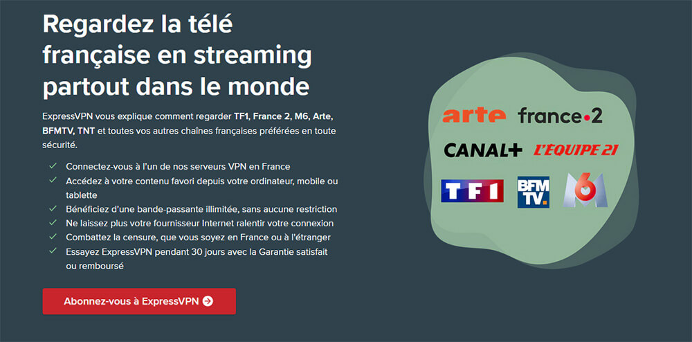 Débloquer Télévision française ExpressVPN