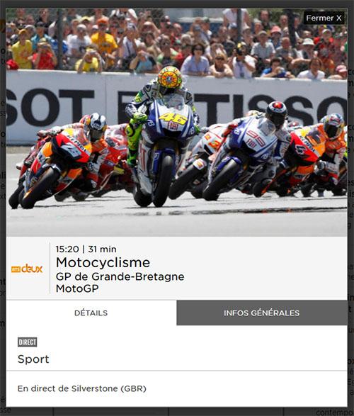 GP Grande-Bretagne MotoGP RTS