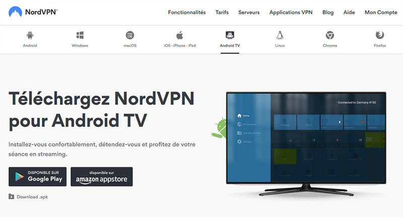 NordVPN sur Android TV