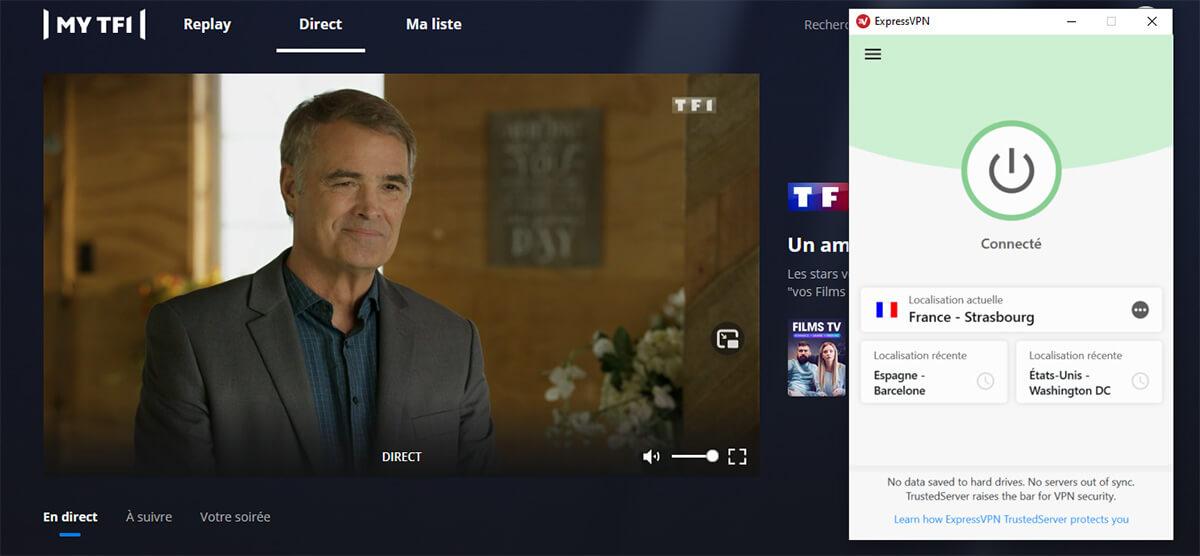 Visionnage TF1 étranger