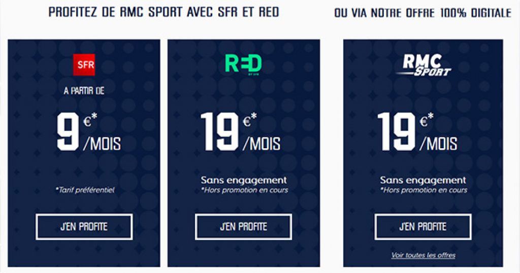 Offres RMC Sport