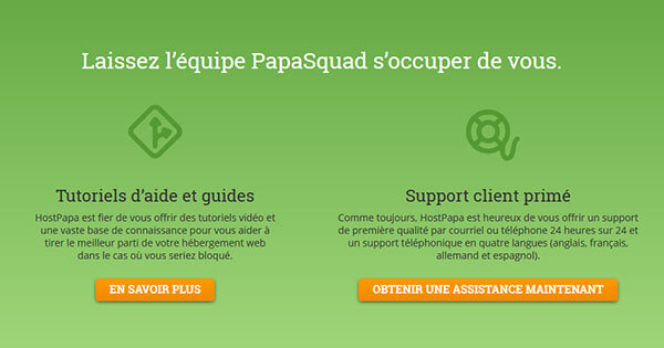 Support client Hostpapa