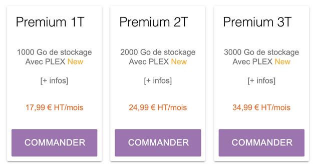 Tarifs Pack Premium Seedbox