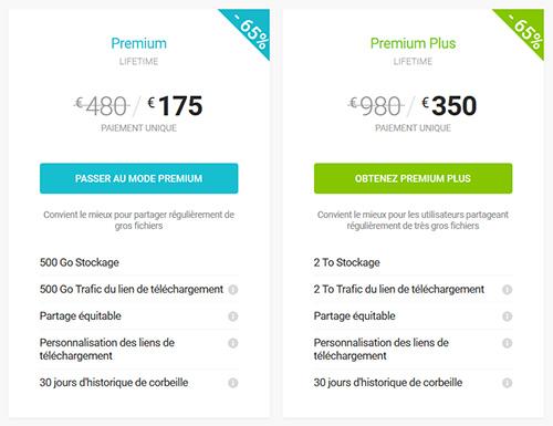 Plans à vie pCloud