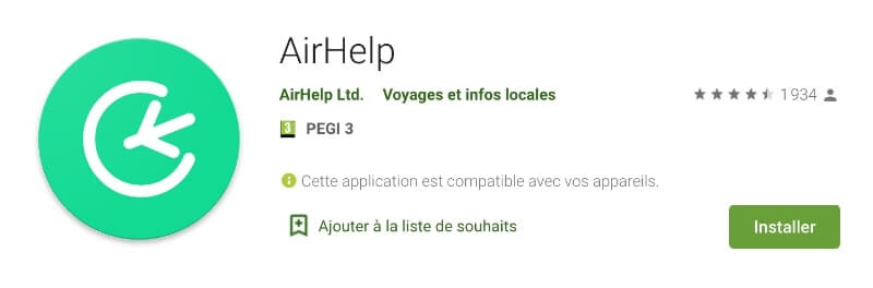 Airhelp application Android