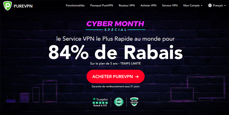 Cyber Month PureVPN