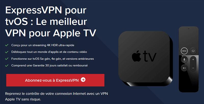 ExpressVPN sur Apple TV