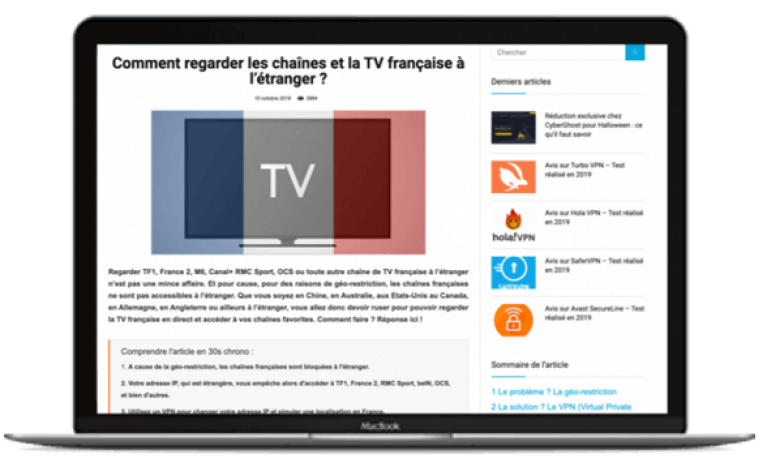 Regarder TV francaise etranger