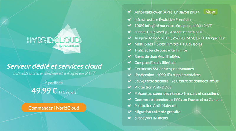 HybridCloud PlanetHoster