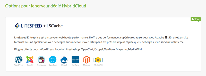Options HybridCloud PlanetHoster