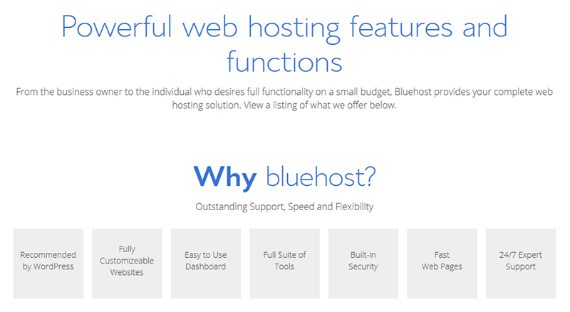 Pourquoi choisir Bluehost