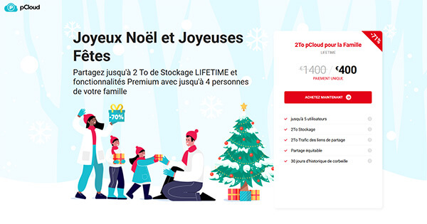 Promotion pCloud Noël