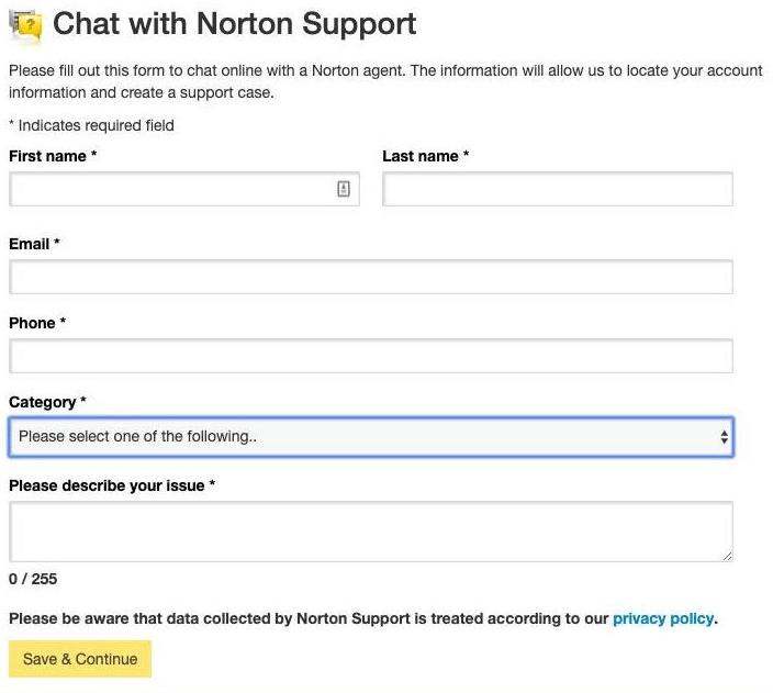 Support client Norton Secure VPN