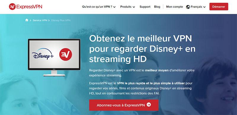ExpressVPN et Disney+
