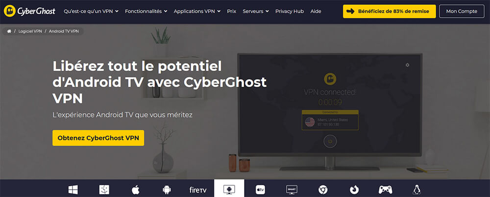 CyberGhost Android TV